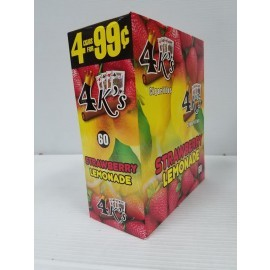 4 Kings Cigarillos Strawberry Lemonade 4x15=60ct