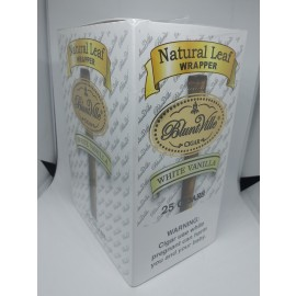 Bluntville Cigars Natural Double Leaf Wrapper White Vanilla 25 ct