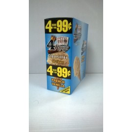 4 Kings Cigarillos French Vanilla 4 x 15 = 60 ct.