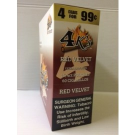 4 Kings Cigarillos Red Velvet 60ct