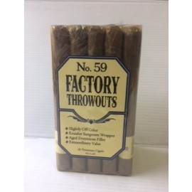 Factory throwouts natural No 59 cigars 20 in a bundle