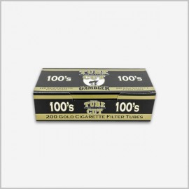 Gambler tube cut cigarette tubes 100s lights [ 200 Count ]