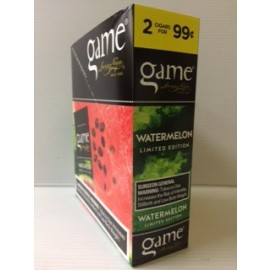 Game Watermelon Cigarillos 15x2= 30ct