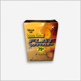 good time peach flat cigar wraps 2 in a pack x 25