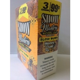 Show Masters Cigarillos Natural Leaf Honey Gold 15x2=30ct
