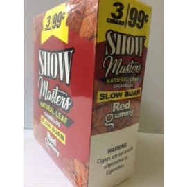 Show Masters Cigarillos Natural Leaf Red Gummy 15x2=30ct
