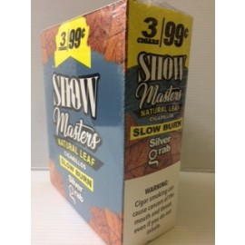 Show Masters Cigarillos Natural Leaf Silver Grab 15x2=30ct