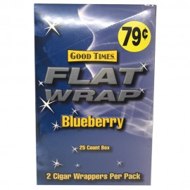 Good time Blueberry flat cigar wraps 2 in a pack x 25 1