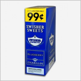 Swisher sweets blueberry cigarillos 15x2=30 count
