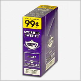Swisher sweets grape cigarillos 15x2=30 count