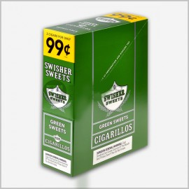 Swisher sweets green cigarillos 15x2=30 count
