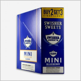 Swisher Sweets Mini Cigarillos Blueberry 3 x 15 = 45