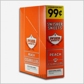 Swisher sweets peach cigarillos 15x2=30 count