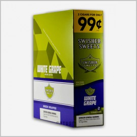 Swisher sweets white grape cigarillos 15x2=30 count
