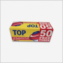 Top cigarette tubes full flavor 250 count king size