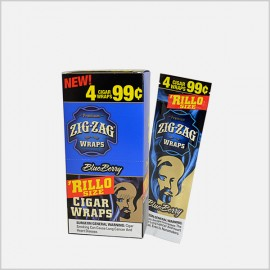 Zig Zag 'Rillo Sized Blue Berry Cigar Wraps