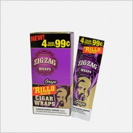Zig Zag 'Rillo Sized Grape Cigar Wraps