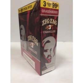 Zig Zag Cigarillos Dragonberry 3 x 15 = 45 ct.